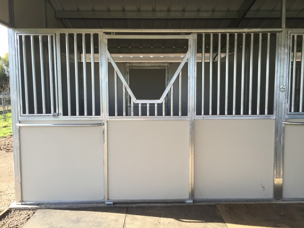 Grilled Feed Door Yoke Door Option & Stall Fronts - NorCal Structures Inc.
